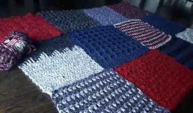 Crochet Frankenstitch blanket