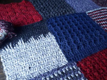 Crochet Frankenstitch blanket