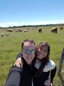 Me and my husband at Lismore Sheep Farm