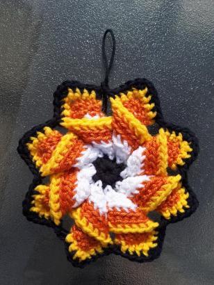 Crochet Candy Corn Pinwheel