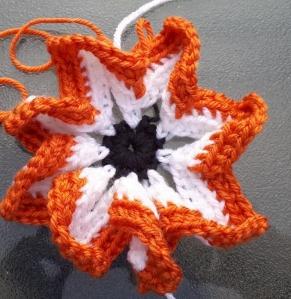 Pinwheel orange finished