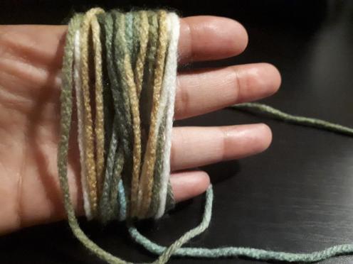 Tassle yarn wrapped