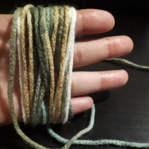 Tassle yarn wrapped