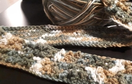 textured scarf 2 sides