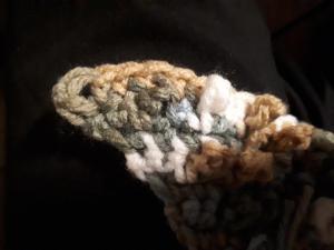 textured scarf corner