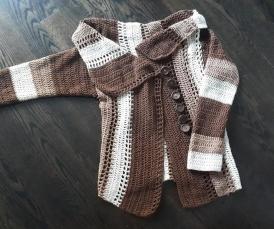 crochet cotton cardi