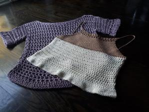 crochet cotton tops