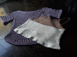 crochet cotton tops