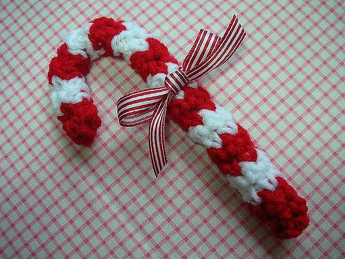 Crochet candy cane