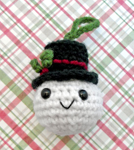 snowman head ornamnet