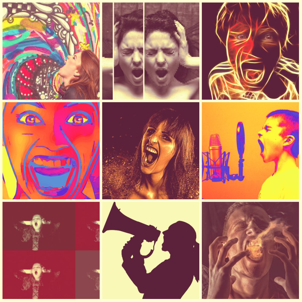 scream collage